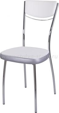 Стул кухонный Омега-4 F-0/С-1 спF-0/С-1 белый с плетеной текстурой/серый