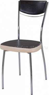 Стул кухонный Омега-4 В-4/В-1 спВ-4/В-1 черный венге/бежевый, повышенной комфортности