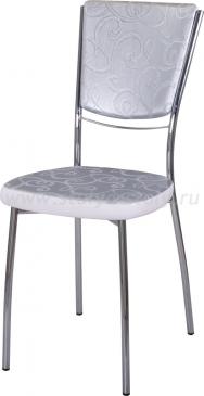 Стул кухонный Омега-5 Д-1/В-0 спД-1/В-0 серебристый с узором/искрящийся белый, повышенной комфортности