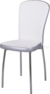 Стул кухонный Палермо F-0/С-1 белый с плетеной текстурой/серый