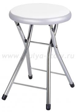 Кухонный табурет Соренто F-0/C-1 белый с плетеной текстурой/серый