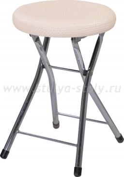 Кухонный табурет Соренто F-1/F-1 светло-бежевый с плетеной текстурой, повышенной комфортности