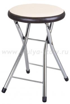Кухонный табурет Соренто F-1/В-4 светло-бежевый с плетеной текстурой/венге