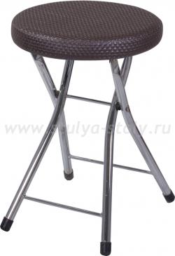 Кухонный табурет Соренто F-4/F-4 венге с плетеной текстурой, повышенной комфортности