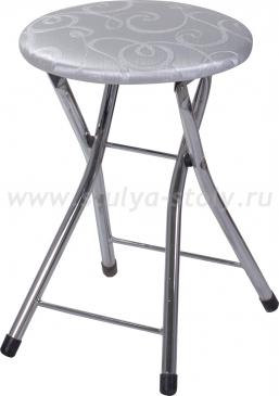Кухонный табурет Соренто Д-1 серебристый с узором
