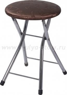 Кухонный табурет Соренто Д-4 коричневый (темная бронза) с узором