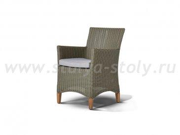"""""""Пестум""""  кресло светло-серое с серой подушкой"""