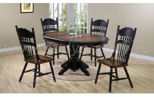 Обеденный стол Rochester-4260-stp комби (коричневый)