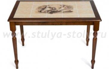 Стол обеденный СТ 3045P, темный дуб (крем)