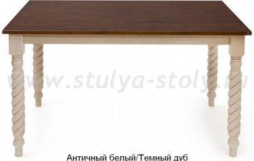 Стол обеденный Наполеон, белый / дуб (крем)