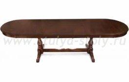 Стол обеденный раскладной Аватар (Avatar) (коричневый)