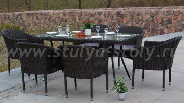 """""""Торре"""" стол коричневый, 1500*800*750"""