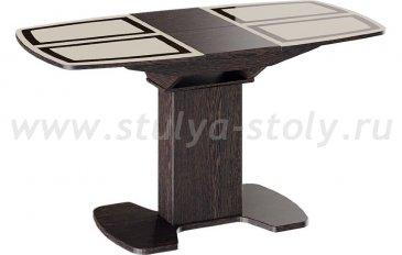 Монако Стол обеденный на деревянных ножках (1100) (коричневый)