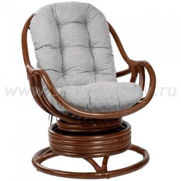 Кресло-качалка KARA с подушкой (серый)