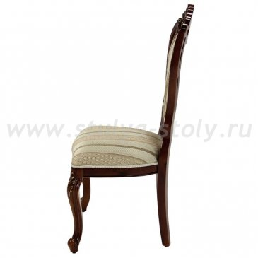 Классический стул с подлокотниками и патиной Глория (темный орех)