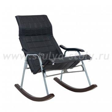 """Кресло-качалка складная """"Белтех"""", к/з черный"""