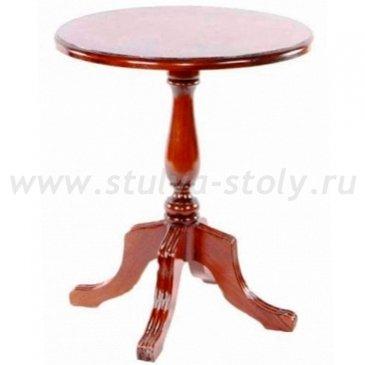 Круглый чайный столик из массива (итальянский орех)