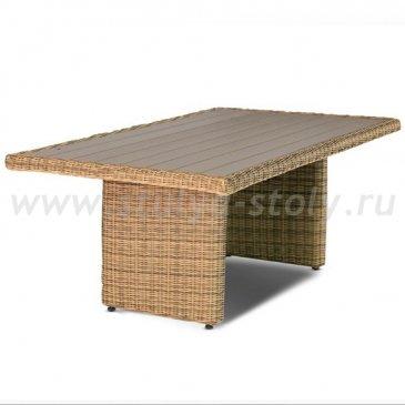 Бергамо, плетеный обеденный стол, соломенный