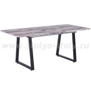Стол обеденный раскладной в стиле лофт DT-89006 (бежевый мрамор)