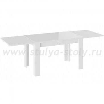 Норман Тип 1 Стол обеденный, Белый/Стекло белый глянец
