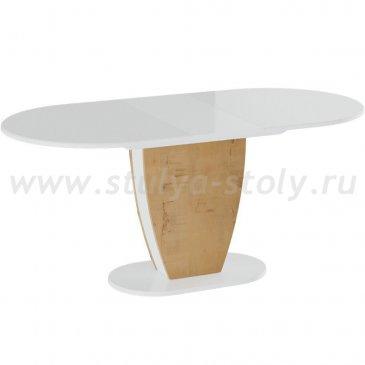 Монреаль Тип-1 Стол обеденный (белый глянец)